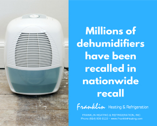 Blog-Millions of dehumidifiers have been recalled in nationwide recall